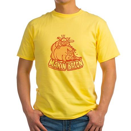 makinbacon2_tran Yellow T-Shirt