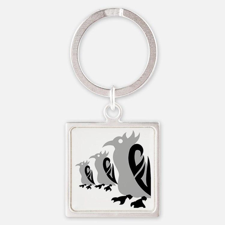 287-Popguin Square Keychain