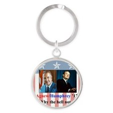AHwhynot Round Keychain