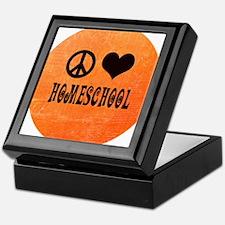 Peace Love Homeschool Orange Keepsake Box