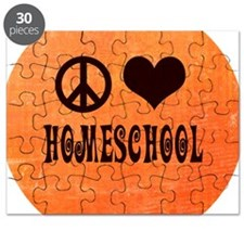 Peace Love Homeschool Orange Puzzle