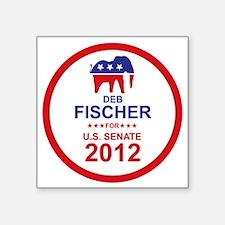 "2012_deb_fischer_main Square Sticker 3"" x 3"""