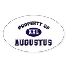 Property of augustus Oval Decal