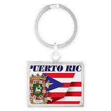 puerto-rico flag shell Landscape Keychain
