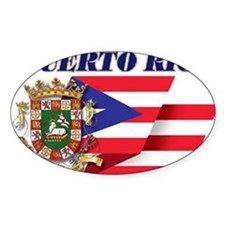 puerto-rico flag shell Decal