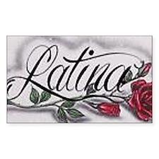 latina Decal