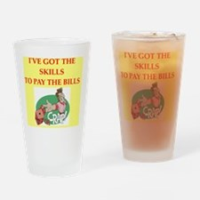 CRAPS Drinking Glass