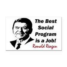 job2 Rectangle Car Magnet