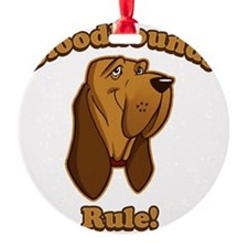Bloodhounds-Rule-Cartoon-dark Ornament