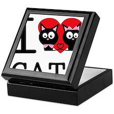 I LOVE CATS1 Keepsake Box