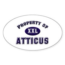 Property of atticus Oval Decal