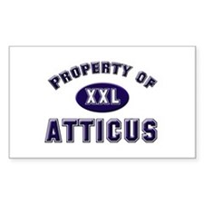 Property of atticus Rectangle Decal