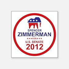 "2012_spencer_zimmerman_main Square Sticker 3"" x 3"""