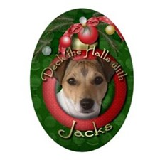 DeckHalls_Jack_Russell Oval Ornament