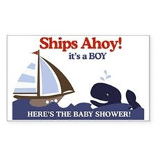 Ships Ahoy Nautical Baby Showe Decal