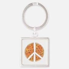 pizzachance_2_dark Square Keychain