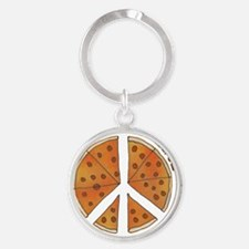 pizzachance_2_smalls Round Keychain