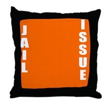 Jail Issue Throw Pillow