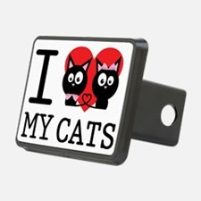 I LOVE MY CATS2 Hitch Cover