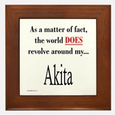 Akita World Framed Tile