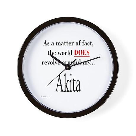 Akita World Wall Clock