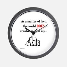 Akita World Wall Clock