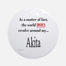 Akita World Ornament (Round)