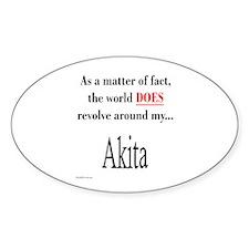 Akita World Oval Decal