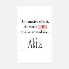 Akita World Rectangle Decal