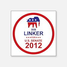 "2012_ian_linker_main Square Sticker 3"" x 3"""