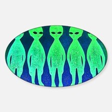 11x17_spaceinvaders Sticker (Oval)