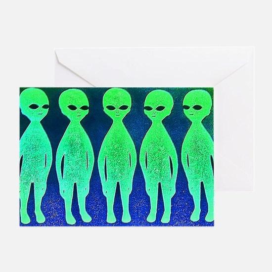 11x17_spaceinvaders Greeting Card