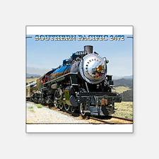 """Cute Steam train Square Sticker 3"""" x 3"""""""
