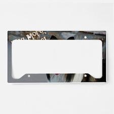 collie skin License Plate Holder