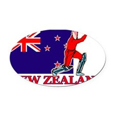 cricket player nz mid Oval Car Magnet
