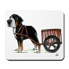 betty-on-cart-cuout Mousepad