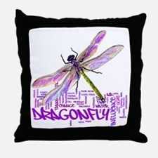 dragonflytotem Throw Pillow