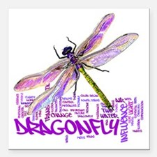 "dragonflytotem Square Car Magnet 3"" x 3"""