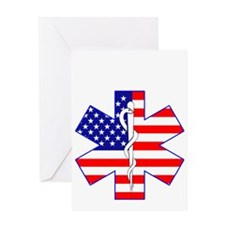 pARAMEDI FLAG 4B Greeting Card