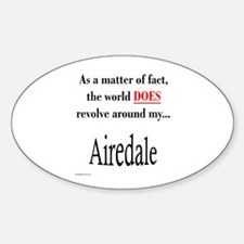 Airedale World Oval Decal