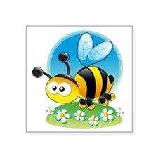 "BumbleBee Square Sticker 3"" x 3"""
