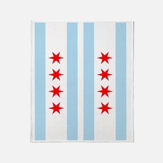Chicago Flag Flip Flops Throw Blanket
