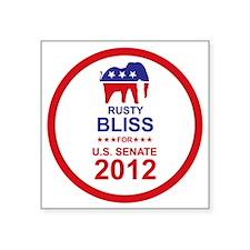 "2012_rusty_bliss_main Square Sticker 3"" x 3"""