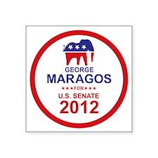 "2012_george_maragos_main Square Sticker 3"" x 3"""