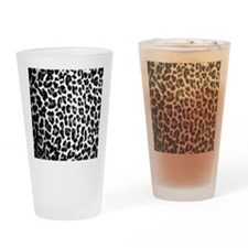 Black White Lep Drinking Glass