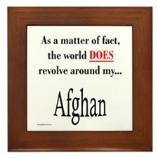 Afghan World Framed Tile