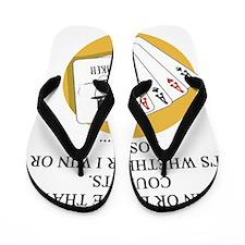 card players Flip Flops