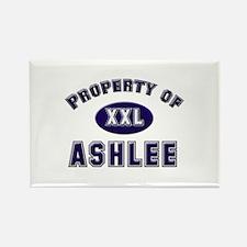 Property of ashlee Rectangle Magnet