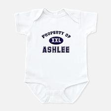 Property of ashlee Infant Bodysuit