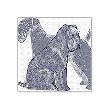 "begin kerry blue terrier4 Square Sticker 3"" x 3"""